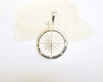 Sailor Compass Necklace Sterling Silver - Compass jewelry - Nautical Jewelry