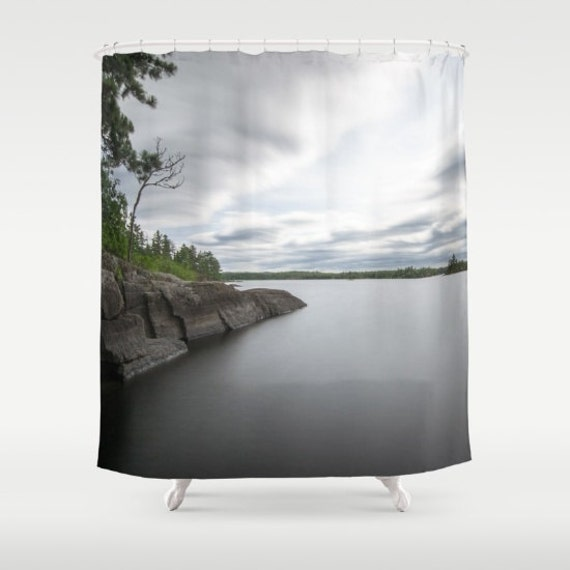 Shower Curtains, Boundary Waters, Minnesota Decor, Northwoods Art, Bathroom Decor, Nature Photography, Lake Decorations, Cabin Living, BWCA