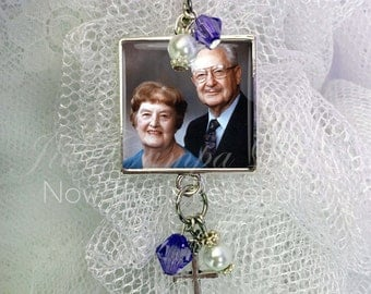 Bridal bouquet Charm - Wedding Bouquet Memorial Photo Charm, Wedding Bouquet Charm, Photo Wedding Bouquet Charm - Bridal Bouquet photo Charm