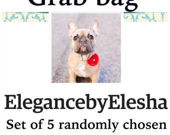 Grab bag, Dog flower set, Dog collar flower, Dog collar, Dog collars, Gifts under 10, Clearance dog flower, Bow for dogs,Sale, Floral dog