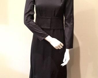 Vintage Burberry Navy Long Dress