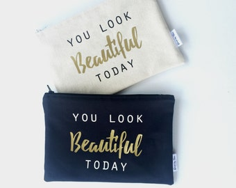 Bridesmaid Gifts - Personalized Gifts - Wedding Party Gifts - Makeup Bags - Cosmetic Bags - Gift for Friends - Travel Bags - Gift for Her