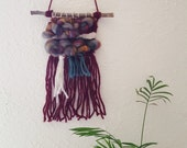 Fireside Fall - Woven Wall Hanging, Woven Tapestry, Sustainable Art