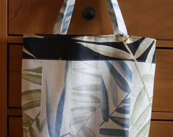 Summer Linen Patchwork Tote Bag