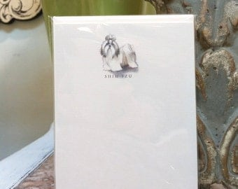 Shih Tzu Dog Note Card Set