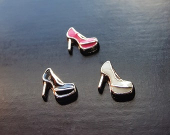 High Heel Shoe Floating Charm for Floating Lockets-1 Piece-Gift Idea