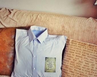 Memory pillow cushion grandad shirt keep sake