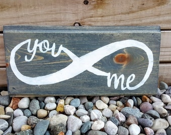 You & Me Infinity Sign, Infinity Sign, You and Me Sign, Love Sign, Wedding Gift, Bridal Shower Gift, Wooden Signs, Wedding Signs