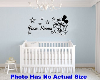 Mickey Mouse Wall Decal Etsy - Vinyl decals for walls etsy