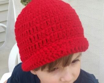Crochet Apple Hat
