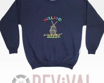 Vintage Holland Windmill Sweatshirt ~ Size M