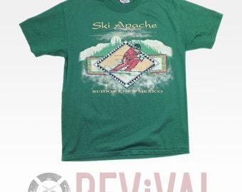 Vintage Ski Apache T Shirt ~ M-L