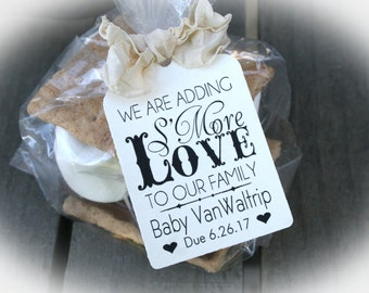 """S'Mores Baby Shower Favor Kits-3 TAG COLORS 