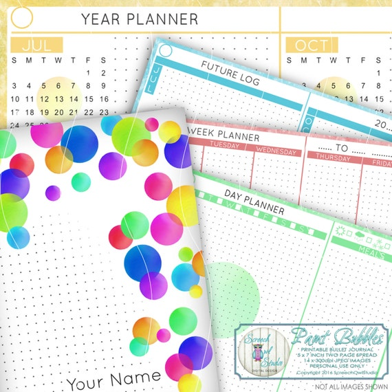 Bullet Journal, Printable Journal Pages, Diary, Planner, Printable ...