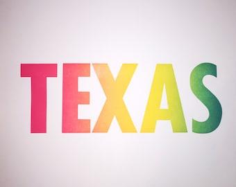 TEXAS Neon Print