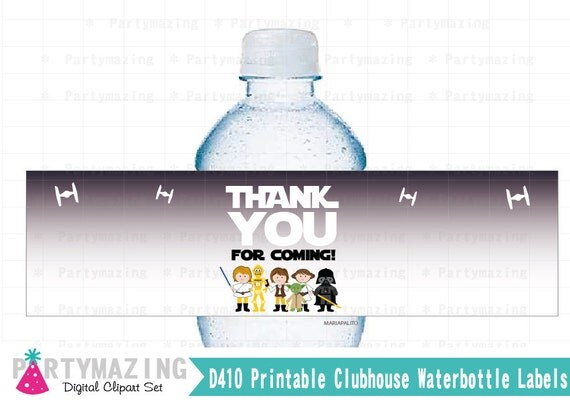 Star Wars Water Bottle Labels, Instant download, Star Wars Water Bottle Labels, Instant Download, Star Wars Collection D518