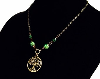 Tree of life necklace, Samhain Jewelry, Boho Gypsy Necklace, Pagan Jewelry, Wiccan necklace, Wiccan jewelry, Tree necklace, Pagan Necklace