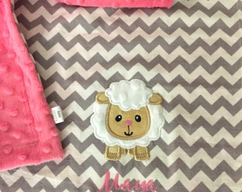 Lamb Baby Blanket | Sheep Baby Blanket | Personalized Lamb Baby Blanket | Name Baby Blanket | Custom Baby Blanket