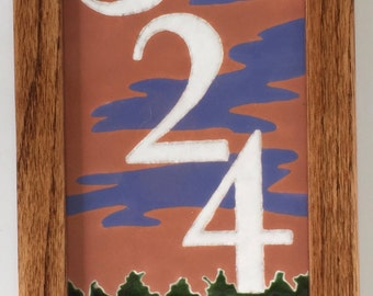 Wood Duck address tile