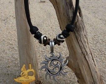 Handmade leather necklace chain pendant necklace men Chain
