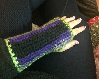 Pick Color Handmade Crocheted Fingerless Gloves / Wrist or Arm Warmers