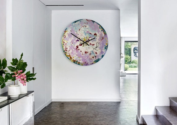 Abstract Wall Light, Oversized Wall Clock, Astronomy Art, Modern Lighting, Extra Large, Glass Art, Unique wall clocks, Glass Wall Art, Uk