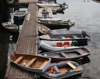 Nautical Maine Art, Boat Wall Art, Acadia National Park Photography, Nautical Wall Art, Boat Dinghy Dock Photography