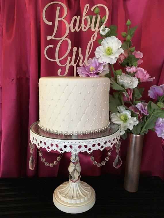 Baby Shower Cake Topper, Baby Girl Cake Topper, Gender Reveal Cake Topper, It's a Girl Cake Topper, Gold Glitter Cake Topper, Welcome Baby