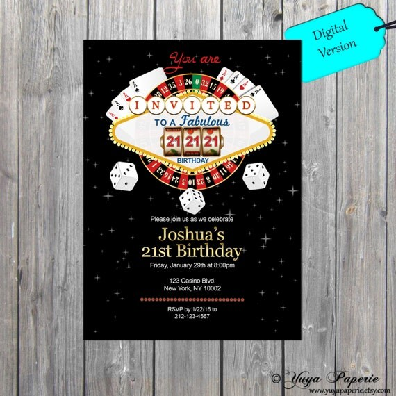 Top Off Place Your Bets Casino Party Decor With BirthdayGirls Birthday Invitations Boys 1st Milestone