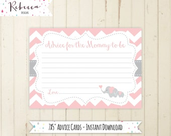 elephant advice card advice for the mommy to be printable baby shower advice baby shower games pink elephant baby shower its a girl 105