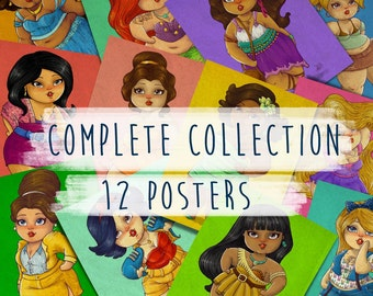 12 posters Modern Princess - Complete Collection