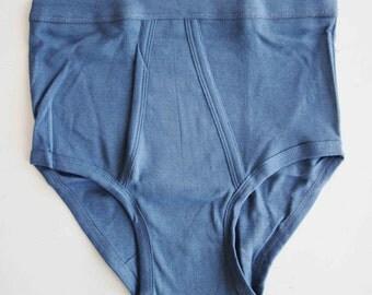 Vintage 70s Briefs NOS Classic Underwear Vintage Mens Unique Slip Vintage Cotton Size L - XL