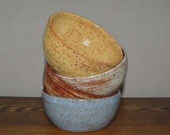 set of 4 soup bowls, chili bowls, pottery bowls, chowder bowls, pasta bowls, dessert dishes, pottery dishes