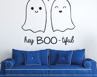 Ghost Decor - Vinyl Wall Decal, Halloween Wall Art, October Holiday, Halloween Decoration, Holiday Decor