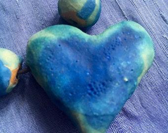 Chunky Handmade Heart Pendant Necklace