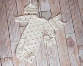 Newborn Coming Home Baby Gown, Hat,...
