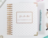 JAN-DEC 2017 Planner Agenda Calendar. Daily - Monthly Let's do This by Susana Cresce. - Gold Foil Black White Polka Dots New Year Planner