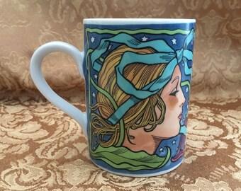 Heart Nouveau Mug, Pelzman Designs, 1991, Art Nouveau Coffee Mug