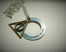 Dumbledores Army, hand stamped necklace