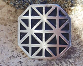 Bernice Goodspeed ~ Taxco Sterling Silver Modernist Pin / Brooch