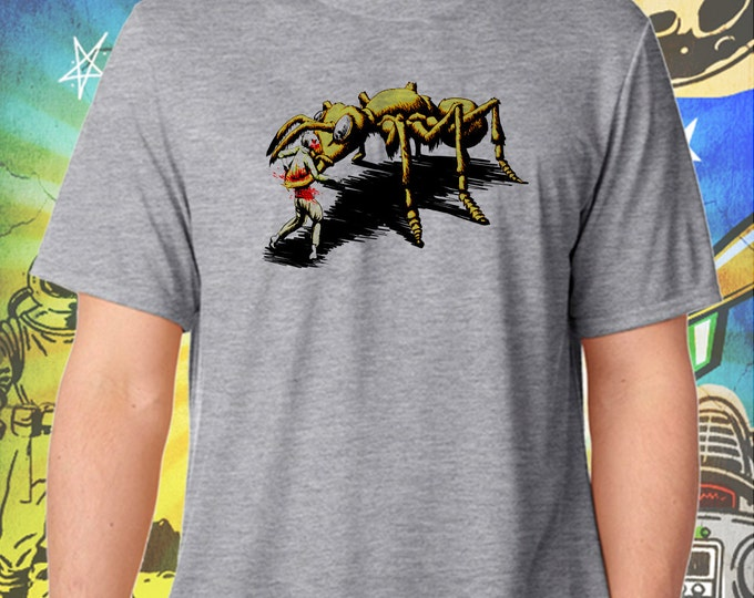 Them! Ants Hate Zombies Too Men's Gray T-Shirt