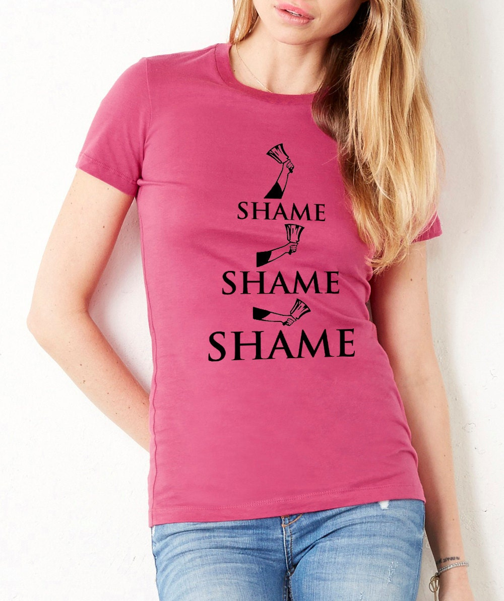 Shame Game Of Thrones Fitted Tshirt Tee T Shirt Cersei