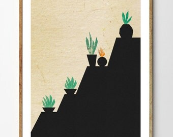 """Shop """"cactus print"""" in Mixed Media & Collage"""