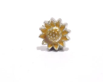 sun flower, Sun flower charm , flower charm, living memory charms, yellow flower charm