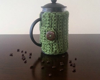 French Press Cozy - Coffee Press Cozy - Custom Colors Available