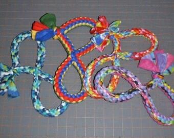 Figure eight fleece rope dog toy medium