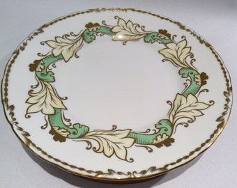 England Tuscan Fine Bone China Plate/tray with gold trim