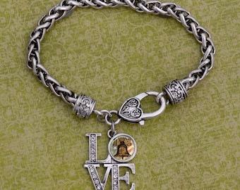 Philadelphia Liberty Bell LOVE Bracelet - PHBELL50720