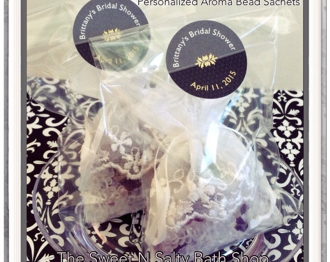 Set of 20 Scented Drawer Sachet Personalized Bridal Shower/Wedding Favors