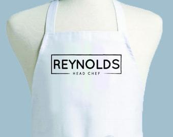 Custom Apron, Personalized Apron, Mens Apron, Apron Men, Chef Apron, Apron, monogrammed apron, guy gift, kitchen apron, foodie gift